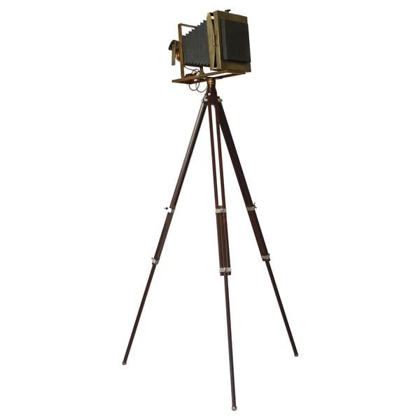 Vintage 19th Century Tripod Camera Accent Home Decor