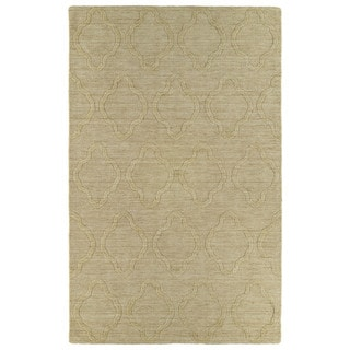 Trends Yellow Prints Wool Rug (9'6 x 13'6)