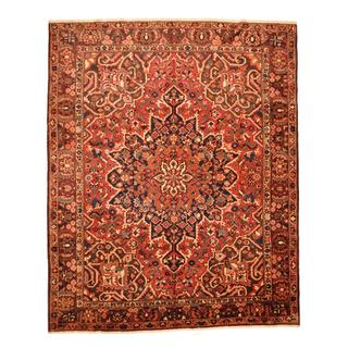 Antique 1960's Persian Hand-knotted Tribal Bakhtiari Red/ Brown Wool Rug (9'10 x 12')