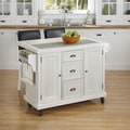 Nantucket Distressed Kitchen Cart and Two Stools