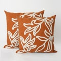 Braid Set of 2 20-inch Square Throw Pillow  (Set of 2)