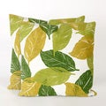 Cut Leaves 20-inch Throw Pillow (Set of 2)