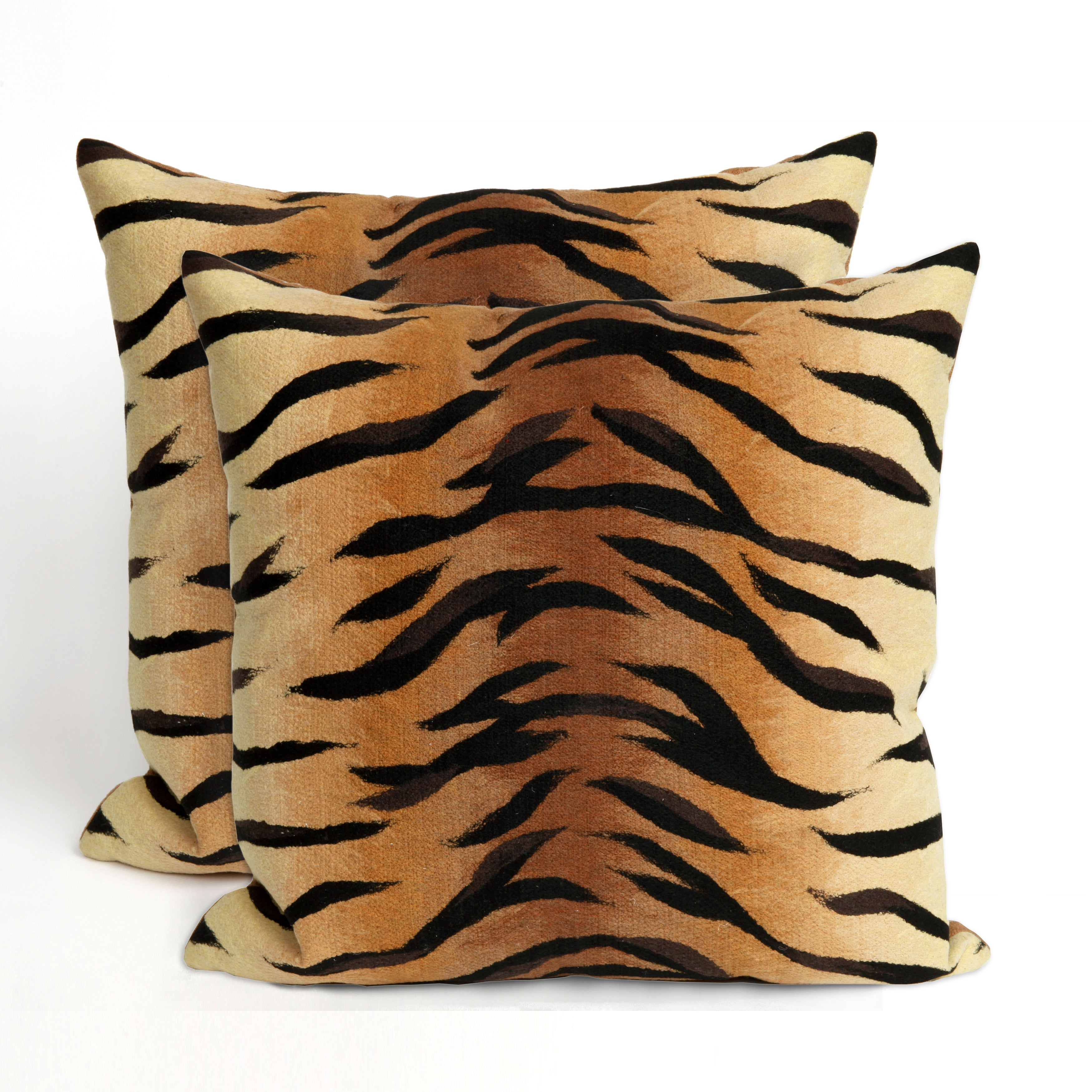 Jungle Cat 20-inch Throw Pillow (Set of 2)