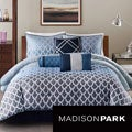 Madison Park Sidney Blue 7-piece Comforter Set