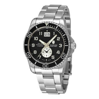 Swiss Army Men's 241441 'Maverick' Black Dial Stainless Steel Quartz Watch