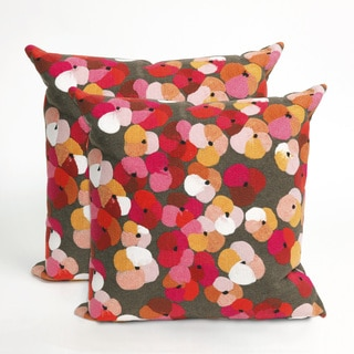 Flower Bed 20 inch Throw Pillow (Set of 2)