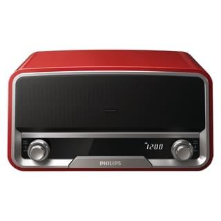 Philips ORD7100R Desktop Clock Radio - 10 W RMS - Stereo - Apple Dock