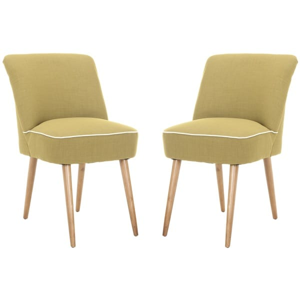 Safavieh Otis Sweet Pea Green Dining Chair (Set of 2)