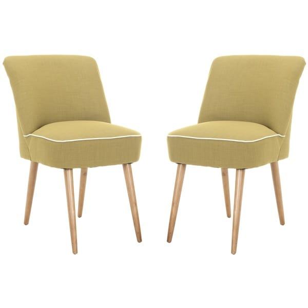 Safavieh Otis Sweet Pea Green Dining Chair (Set of 2)