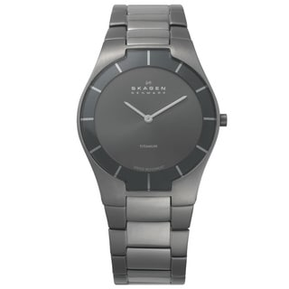 Skagen Men's Classic 585XLTMXM Grey Titanium Swiss Quartz Watch with Grey Dial
