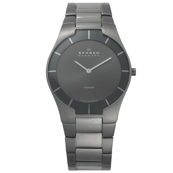 Skagen Men's Classic 585XLTMXM Grey Titanium Swiss Quartz Watch with Grey Dial