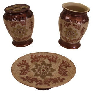 Sherry Kline Juliet Bath Accessory 3-piece Set