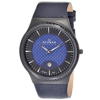 Skagen Men's Classic Blue Leather Quartz Watch