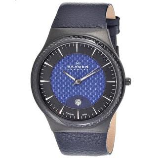 Skagen Men's 234XXLTBLN Titanium Round Navy Strap Watch