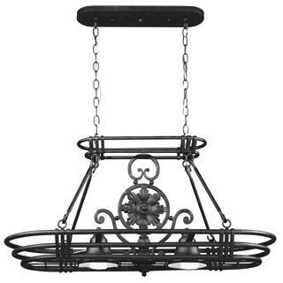 Dorada 2-Light Black Pot Rack