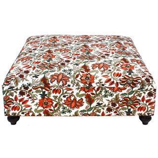 Mulitcolored Veronica Floral Ottoman (India)