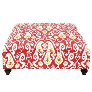 Multicolored and Red Eloise Ottoman (India)