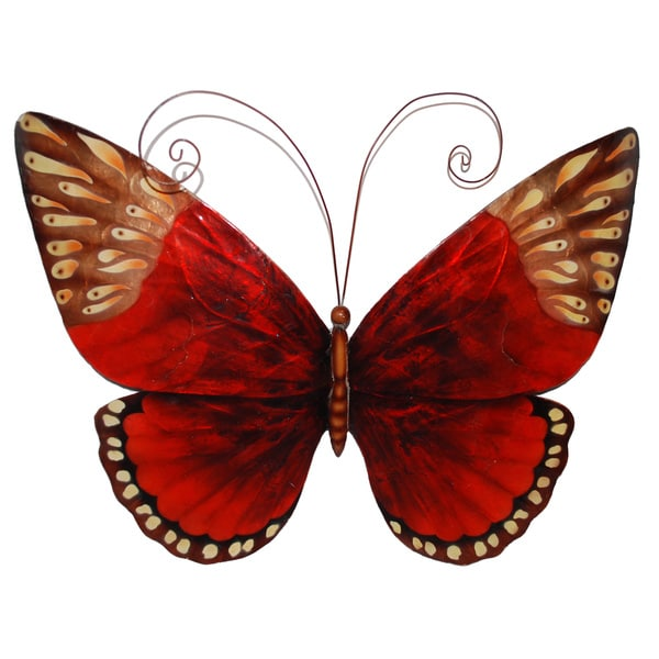 Wall Art Glass Butterflies : Handcrafted red butterfly wall art philippines