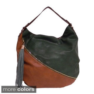 Donna Bella Designs 'Doppio Colore' Oversized Hobo Bag