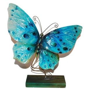 Handcrafted Blue Standing Butterfly Art Piece (Philippines)