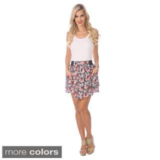 Stanzino Women's Floral Pocket Mini Skirt