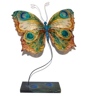 Handcrafted Table Butterfly Peacock Art Piece (Philippines)