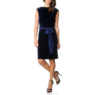 BCBG Maxazria Women's Navy Velvet Cocktail Dress