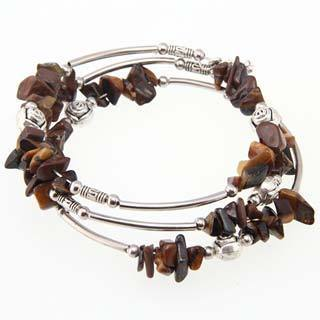 Tibetan Silver Tiger's Eye Bangle / Anklet (China)