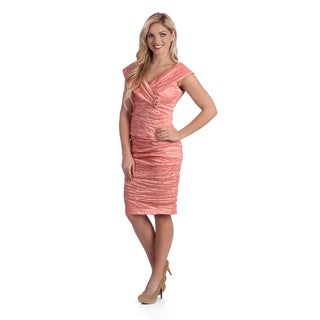 Alex Evenings Women's Coral 2-piece Beaded Cocktail Dress