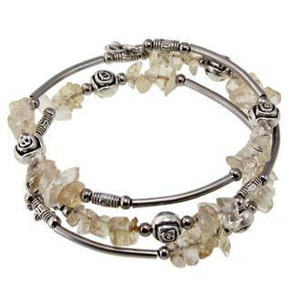 Handmade Tibetan Silver Citrine Bangle Anklet (China)