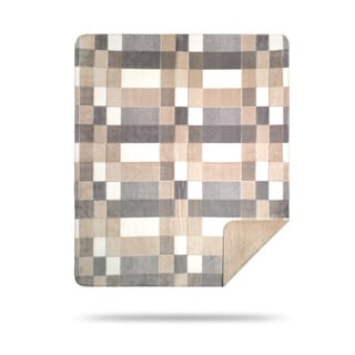 Denali Grey Modern Plaid Throw Blanket