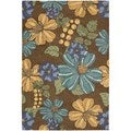 Nourison South Beach Chocolate Rug 2'6 x 4'