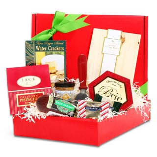 Alder Creek Gift Baskets Small Cutting Board Cheese & Chocolate Gift Basket