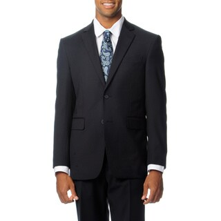 Nautica Men's Black Stripe Wool Rich Performance Blend 2-piece Suit