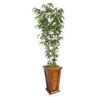 Laura Ashley 91-inch Tall Natural Bamboo Tree in Fiberstone Planter