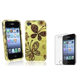 BasAcc Butterfly Case/ Anti-glare LCD Protector for Apple iPhone 4/ 4S