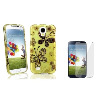 BasAcc Butterflies Case/ LCD Protector for Samsung Galaxy S4 i9500