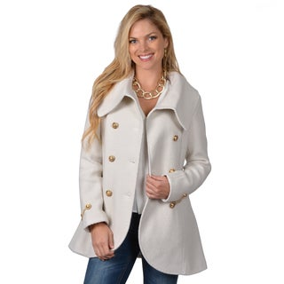 Jessica Simpson Women's Shawl Collar Double Breasted Coat