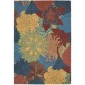 Nourison South Beach Deep Sea Rug 8' x 10'6