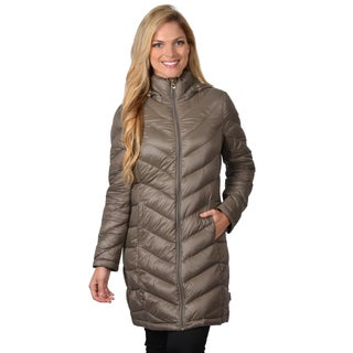 Calvin klein women s down feather hooded bubble jacket today 97 99 2