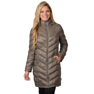 Calvin Klein Women's Down Feather Hooded Bubble Jacket