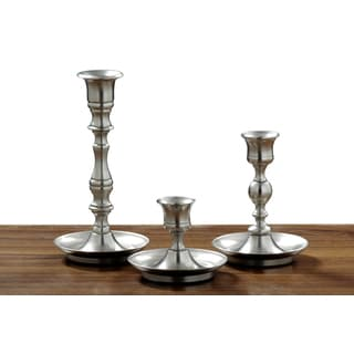 Cape Fear Pewter Candlesticks (Set of 3)