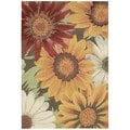 Nourison South Beach Sunflower Rug 5' x 7'6