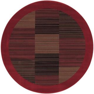 "Everest Hamptons/Red 5'3"" Round Rug"