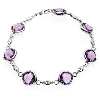 La Preciosa Sterling Silver Amethyst Bracelet