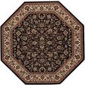 "Everest Isfahan/Black 3'11"" Octagon Rug"