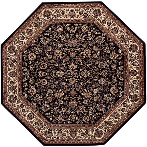 "Everest Isfahan/Black 3'11"" Octagon Rug"