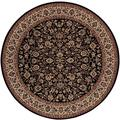 "Everest Isfahan/Black 3'11"" Round Rug"