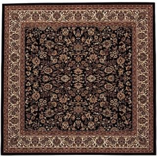 "Everest Isfahan/Black 3'11"" Square Rug"