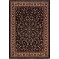 Everest Isfahan Black Area Rug (3'11 x 5'3)